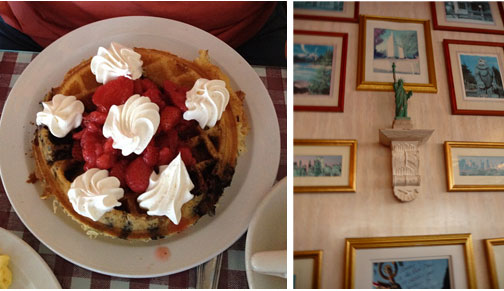 Red, White and Blue Waffle and Annie's Cafe, Lake, Elsinore, Ca
