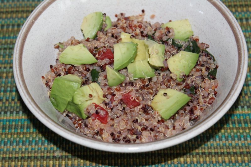 Warm Quinoa Salad with Avocado