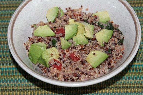Warm Quinoa Salad with Avocado