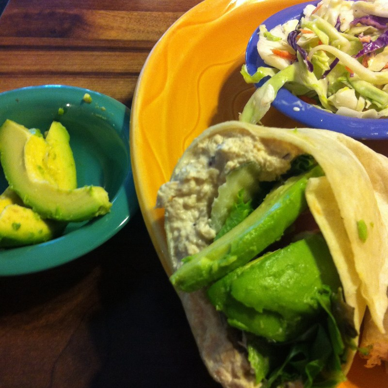 Wayside Wrap with Tuna, Avocado, Fresh Greens and Tomato