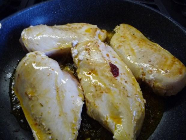seared chicken breast