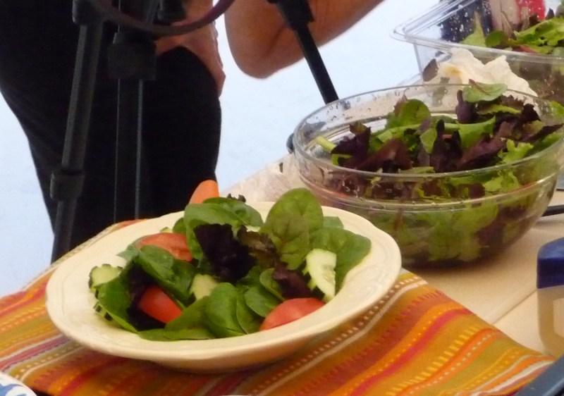 styled salad