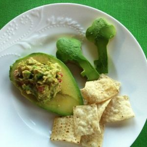 avocados cut with cookie cutters