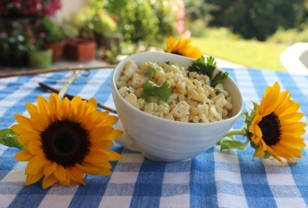 corn-salad-sunflowers