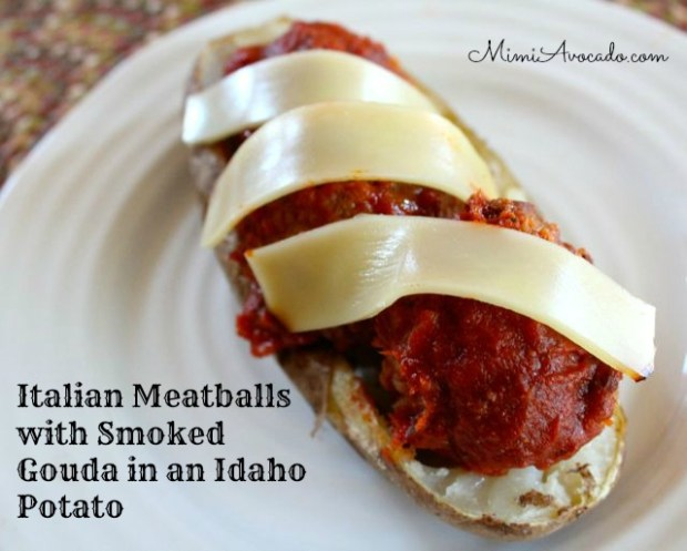 Meatballs in Potato Skins