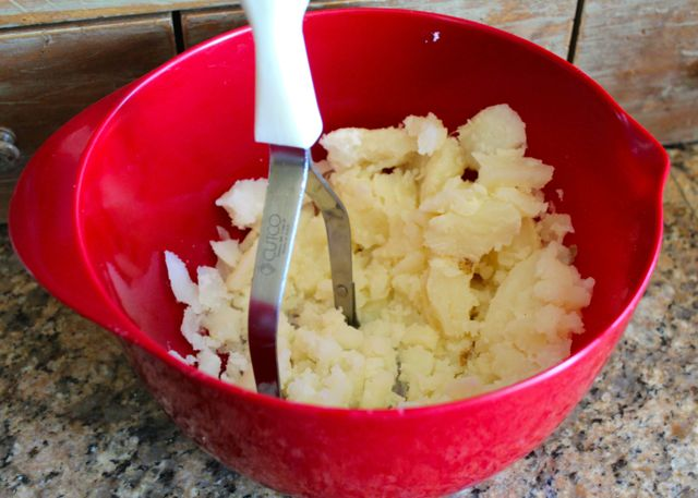 mashed Idaho potatoes