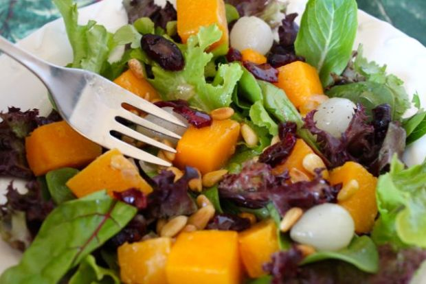 butternut and pearl onion salad
