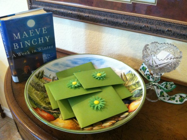 book with Irish blessing card