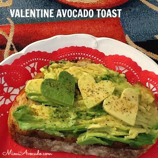 Avocado Hearts on Toast