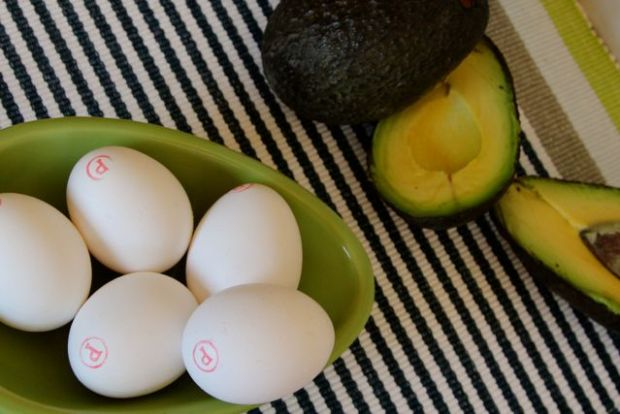 eggs and avocados