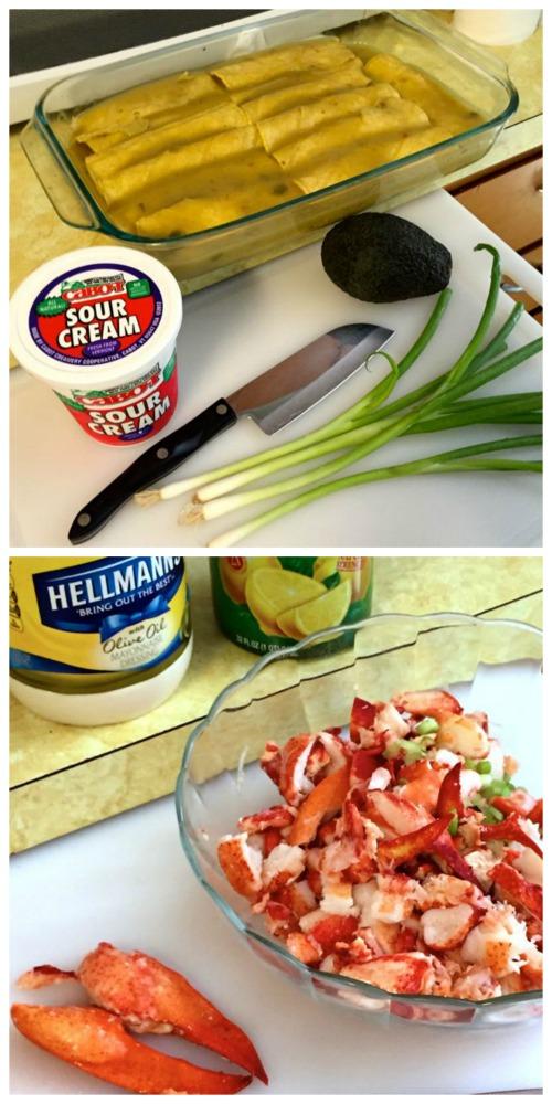 enchiladas and lobster