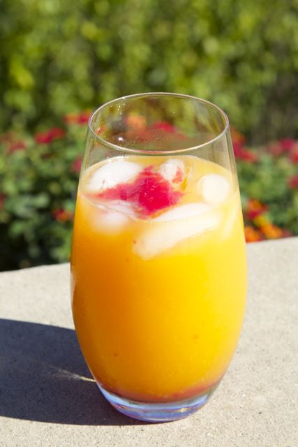 orange-peach-raspberry drink