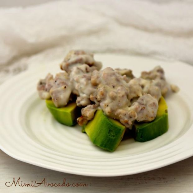 sausage gravy on avocado