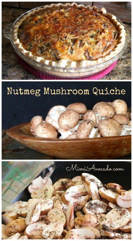 Nutmeg Mushroom Quiche