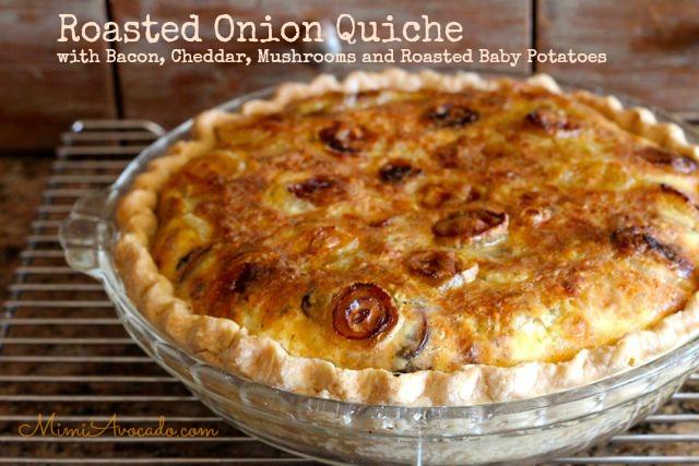 Roasted Onion Quiche
