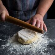 rolling pie dough