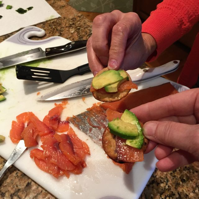 avocado and smoked salmon