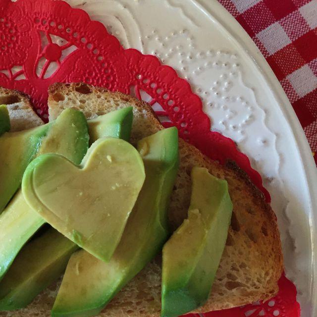 Valentine avocado cut-out