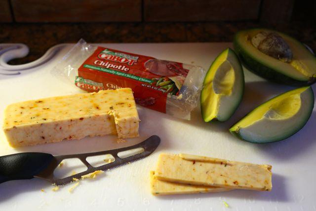 cheddar and avocado
