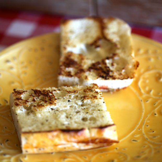 grilled foccacia squares