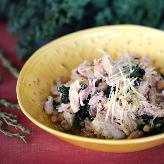 Chicken with Kale and White Beans