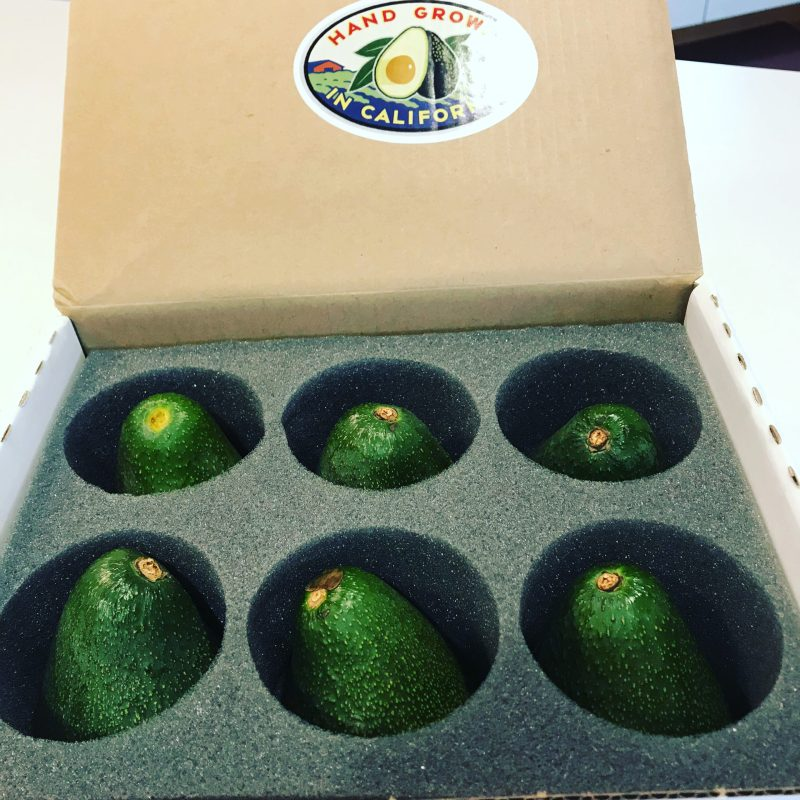 box of 6 avocados