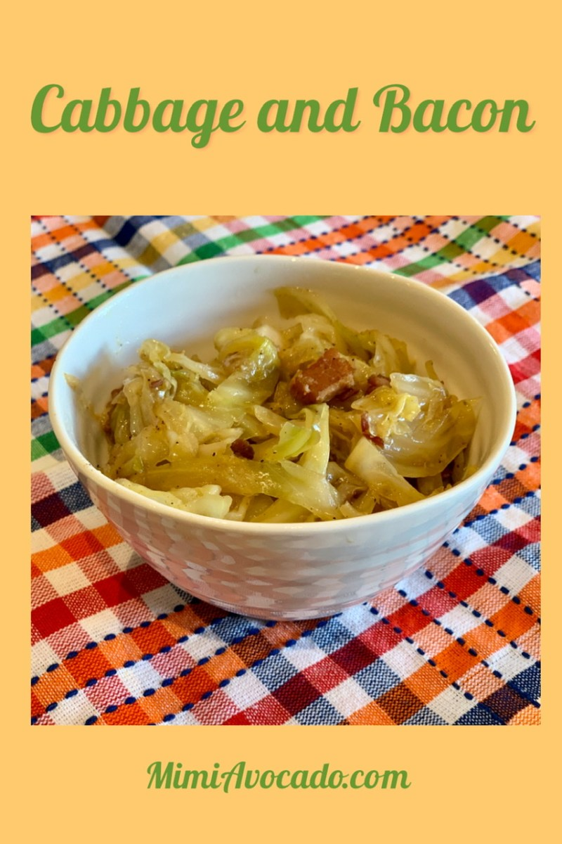 Cabbage and Bacon Pinterest Image