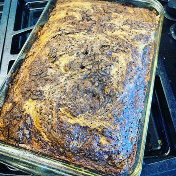 Summer Squash Cinnamon Swirl Coffee Cake
