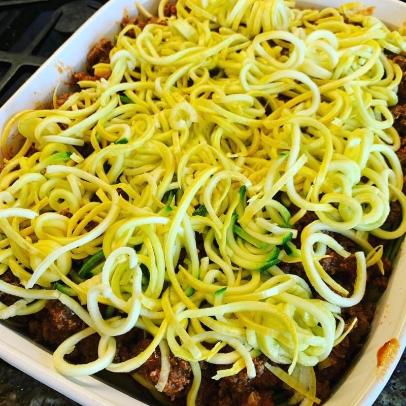 building zoodle lasagna