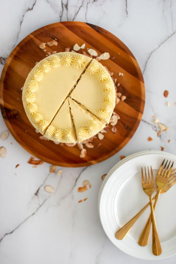 Easy and healthy Hawaiian lilikoi cake recipe, almond cake recipe, almond cake, lilikoi cake, lilikoi fruit, lilikoi plant, gluten free cake, hawaiian cake, hawaii, organic cake, no artificial colors, colored naturally #noartificialcolors #lilikoi #passinfruit #tropical #tropicalcake #hawaiian #hawaiiancake #hawaiiandessert