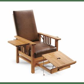 Göttinger Stuhl mit Lederpolster