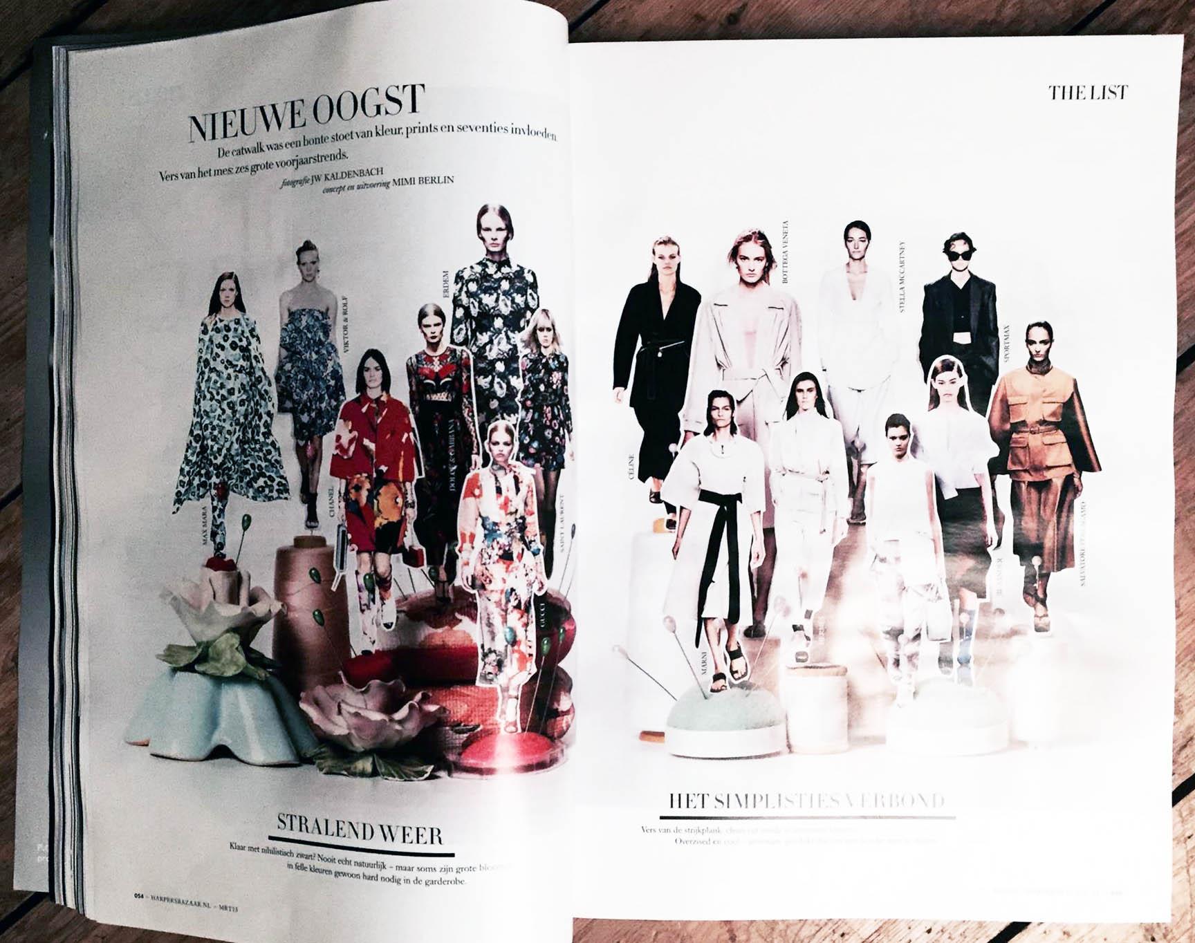 trends for summer 2015 in Harper's Bazaar NL