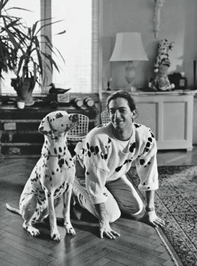 marc jacobs with dalmatian dog