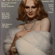 Candy Darling on the cover of Cosmopolitan. Photo/cover by Francesco Scavullo
