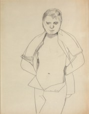 Francis Bacon (study. Lucien Freud, 1951. Pencil and Charcoal on Paper , Lucian Freud,© Lucian Freud Archive