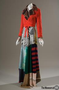 Xuly Bët, Fall 1994, Multicolor recycled wool and red nylon