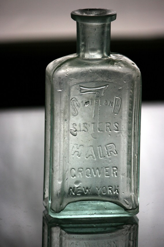 Historic 7 Sutherland Sisters Hair Grower New York Bottle http://www.etsy.com/listing/63628448/historic-7-sutherland-sisters-hair