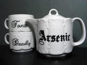 Teacup - Victorian Inspired - Hand Painted Tea Set - Treacherous Tea Party