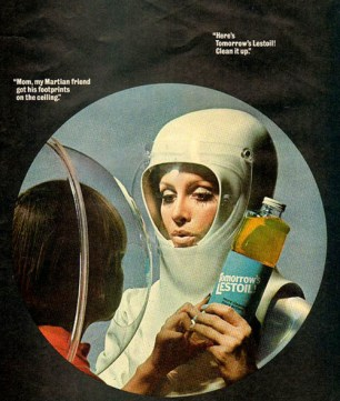 vintage magazine ad for Lestoil cleanser. 1968