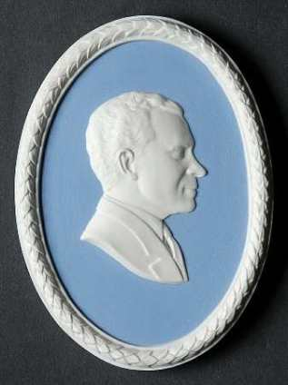 Richard M Nixon - No Box in the Jasperware Plaque-Personalities pattern by Wedgwood China