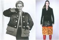 left: Schiaparelli, l'Officiel 1949, photo by Philippe Pottier. right: Prada F/W 2007-2008, photo by David Sims.