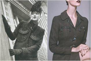 left: Schiaparelli, Vogue – September 1938, photo by Regina Relang. right: Prada F/W 2004-2005, photo by Toby McFarlan Pond.