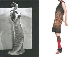 left: Schiaparelli, l'Officiel – December 1933, photo by Egidio Scaioni. right: Prada F/W 2007-2008, photo by Toby McFarlan Pond.