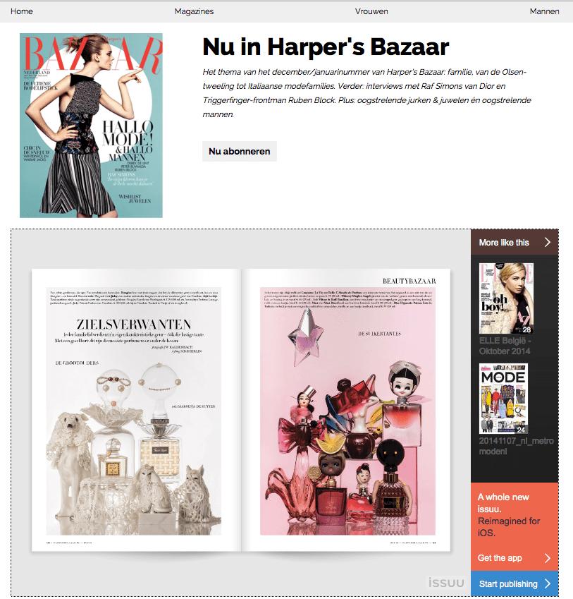 Screen shot 2014-11-27 harper's Bazaar NL magazine