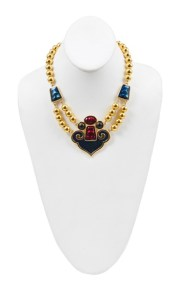 YSL gold beaded necklace at Resurrection