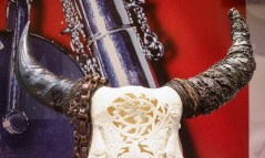 Skull with Jewelry, carved with Gem Kingdom artwork
