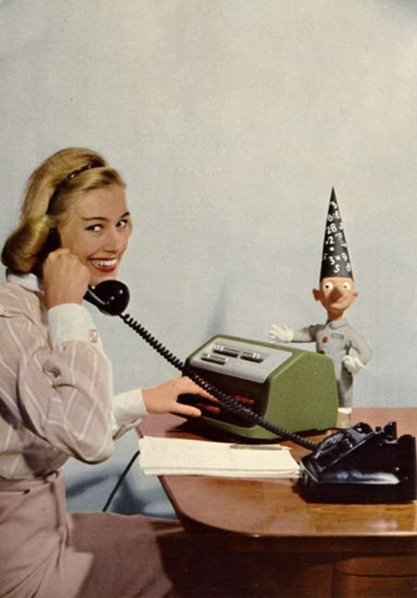 A Vintage Image of an Office Manager