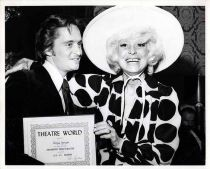 1971 Michael Douglas Carol Channing Theatre World Awards Candid Photo