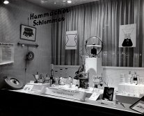 window display at Hammacher Schlemmer in New York shows a variety of Chemex innovations