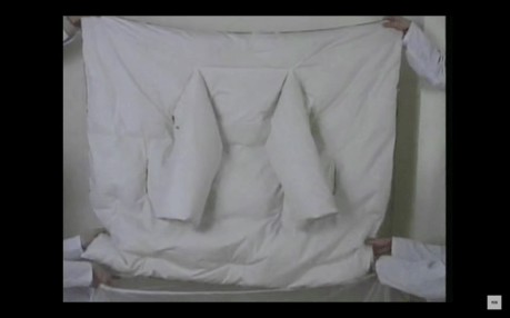 Duvet Coat by Maison Margiela fall/winter 1999–2000 (Screenshot from The Artist Is Absent: A Short Film On Martin Margiela | by YOOX Group)